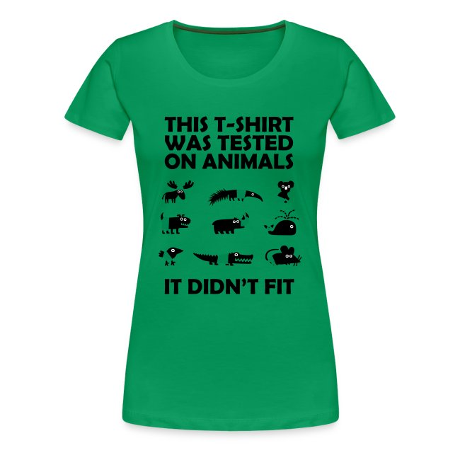 Tested on Animals Women T-Shirt yellow