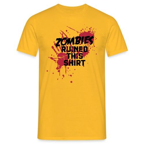 Zombies ruined this Men T-Shirt yellow - Men's T-Shirt