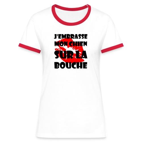 sur la bouche - T-shirt contrasté Femme