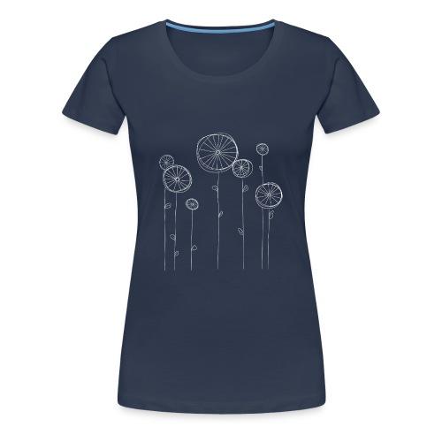 Radblumen - Frauen Premium T-Shirt