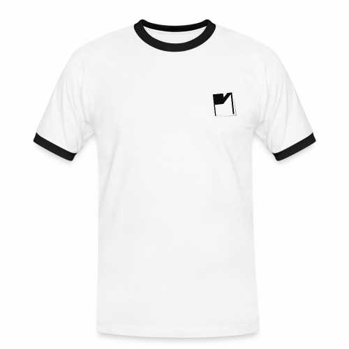 PM Logo Shirt weiß - Männer Kontrast-T-Shirt