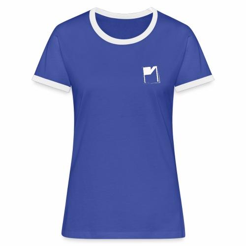 PM Logo Shirt blau - Frauen Kontrast-T-Shirt
