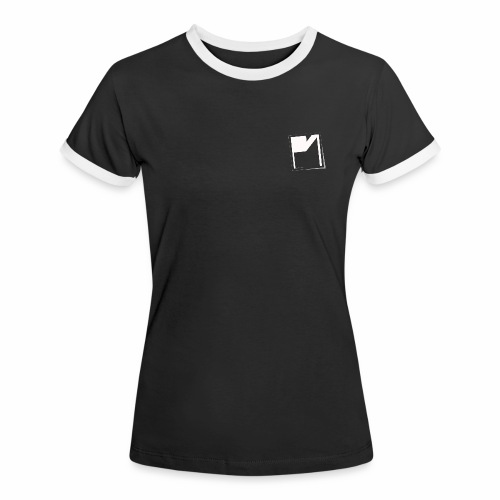 PM Logo Shirt schwarz - Frauen Kontrast-T-Shirt
