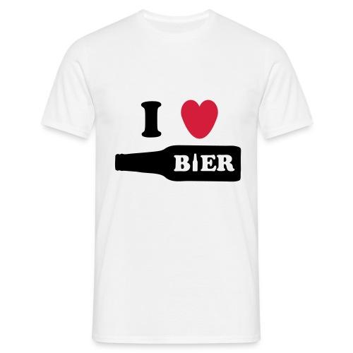 I love bier - Mannen T-shirt