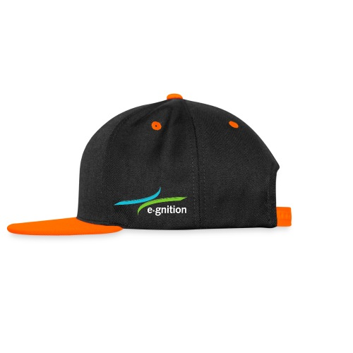 Snapback Orange - Kontrast Snapback Cap