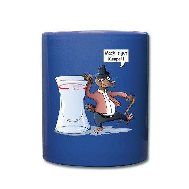 Schnapsdrossel - Tasse farbig