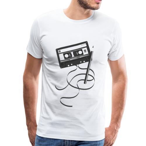 Musik Kassette aus den 80er / 90er Jahren - Männer Premium T-Shirt