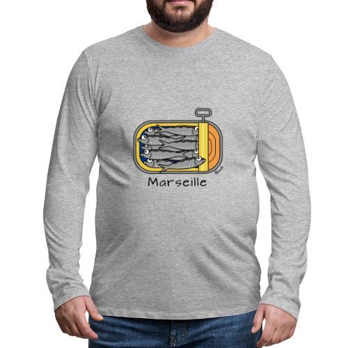 T-shirt ml Homme Boîte à Sardines, Marseille - T-shirt manches longues Premium Homme