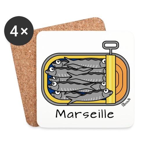 Pack 4 dessous de verre Boîte à Sardines, Marseille - Dessous de verre (lot de 4)
