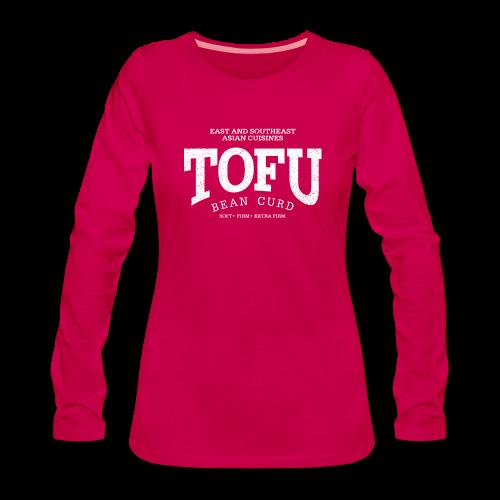 Tofu (white oldstyle) - Frauen Premium Langarmshirt