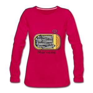 T-shirt ml P Femme Boîte à Sardines, Marseille - T-shirt manches longues Premium Femme