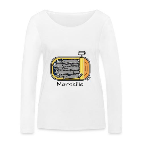 T-shirt ml Bio Femme Boîte à Sardines, Marseille - T-shirt manches longues bio Stanley & Stella Femme