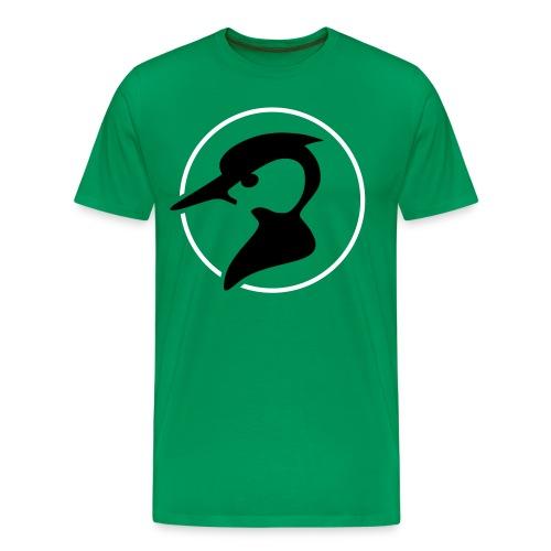 Green Race! Flockdruk - Mannen Premium T-shirt