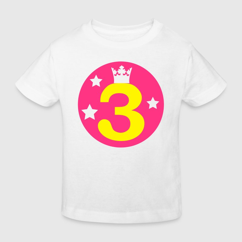 I am 3 years old - Birthday - Kids' Organic T-shirt