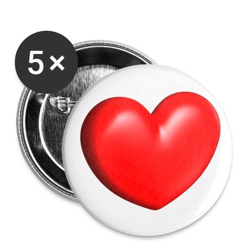Heart'shirt - Lot de 5 moyens badges (32 mm)