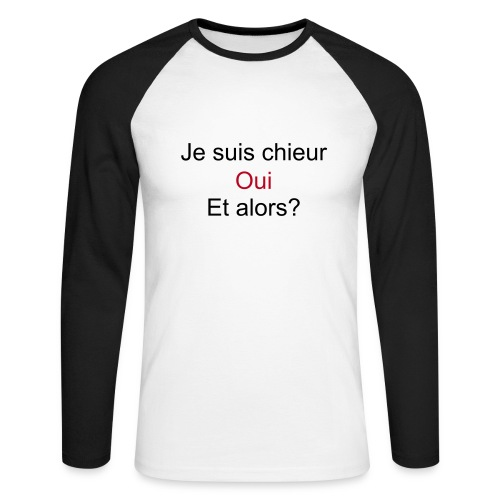 Je suis chieur (manches longues) - T-shirt baseball manches longues Homme