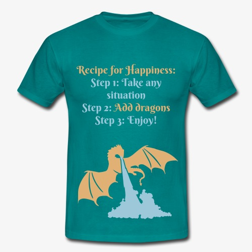 Dragons and Happiness - Men's T-Shirt