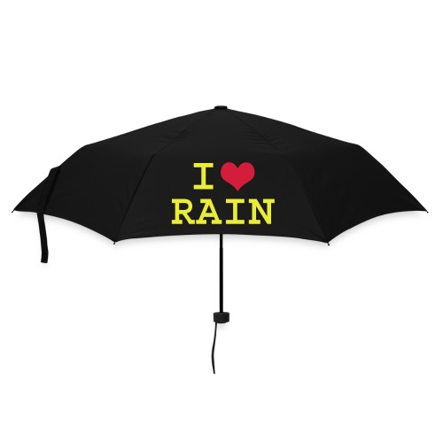 i love rain umbrella - Umbrella (small)