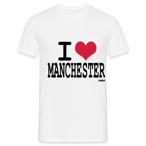 i love manchester t shirt - Men's T-Shirt