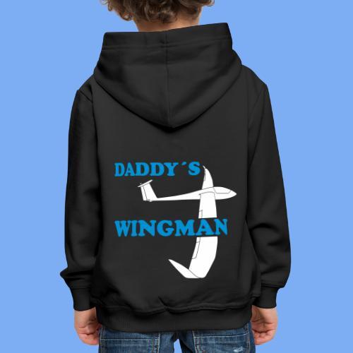 Daddy´s Wingman Geschenk Sport Segelflieger - Kids' Premium Hoodie