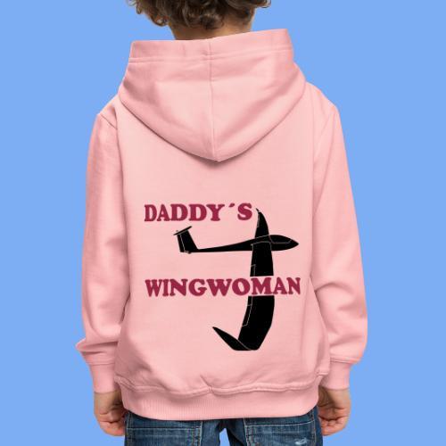 Daddy´s Wingwoman Geschenk Sport Segelflieger - Kids' Premium Hoodie