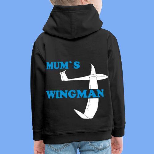 Mum´s Wingman Geschenk Sport Segelflieger - Kids' Premium Hoodie