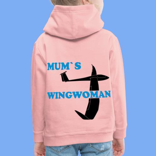 Mum´s Wingwoman Geschenk Sport Segelflieger - Kids' Premium Hoodie