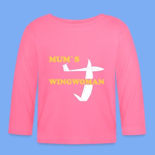 Mum´s Wingwoman Geschenk Sport Segelflieger - Baby Long Sleeve T-Shirt
