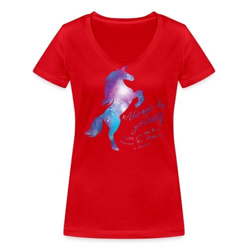 Unicorn vrouwen v-hals bio - Vrouwen bio T-shirt met V-hals van Stanley & Stella