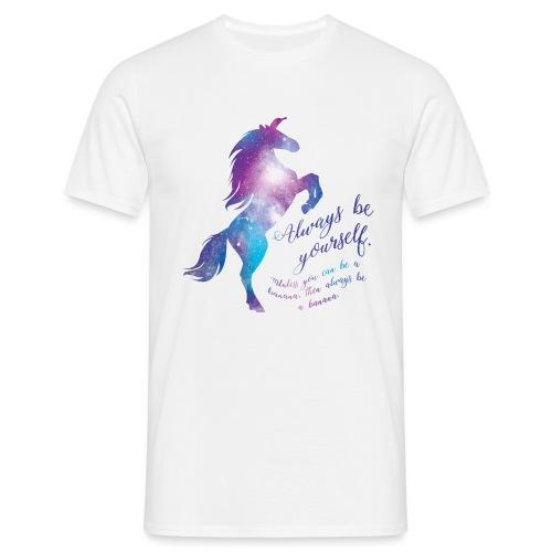 Unicorn mannen t-shirt - Mannen T-shirt