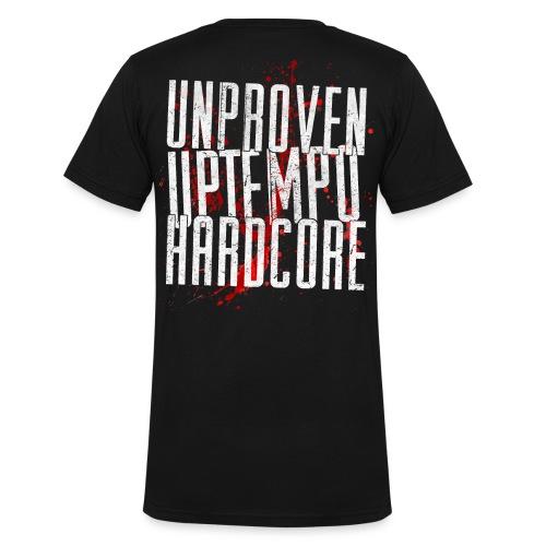 Unproven - Uptempo - T-shirt - Front & Back (v-hals) - Mannen bio T-shirt met V-hals van Stanley & Stella