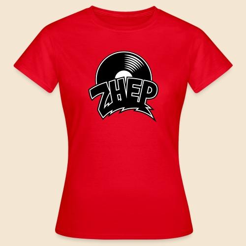 ZHEP T-Shirt Damen / 2-farbiger Flexdruck schwarz/weiss - Frauen T-Shirt