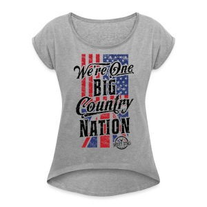 Country Nation Ladies Scoop Tee - Women's T-shirt with rolled up sleeves