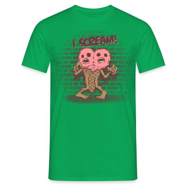 I Scream Men T-Shirt black