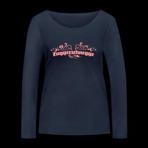 Zuggerschnegge - Print/rosa - Mädle - Frauen Bio-Langarmshirt von Stanley & Stella
