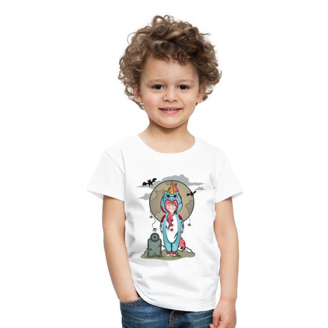 "T-shirt Enfant ""Licorne Halloween"""