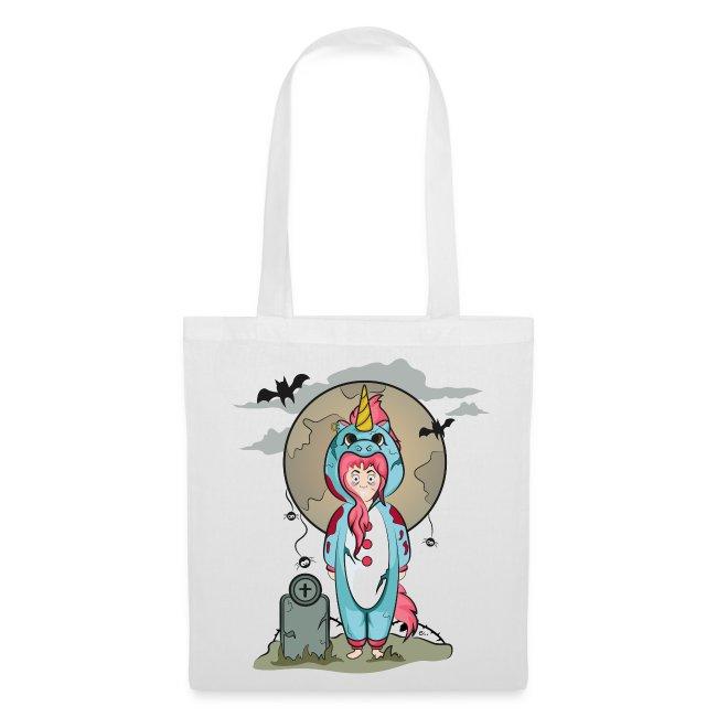 "Tote bag ""Licorne Halloween"""