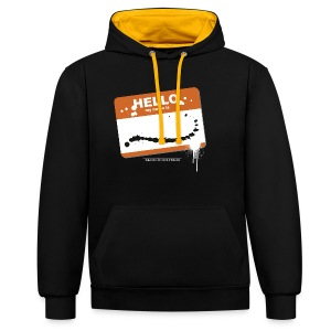 Hello my name is - Kontrast-Hoodie