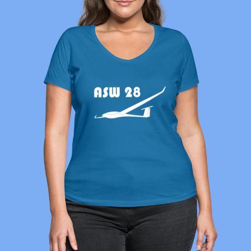 ASW28 Segelflugzeug glider - Women's Organic V-Neck T-Shirt by Stanley & Stella