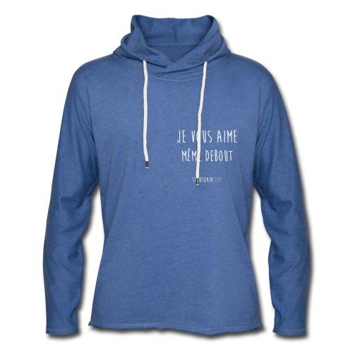 sweat unisexe bleu stg - Sweat-shirt à capuche léger unisexe