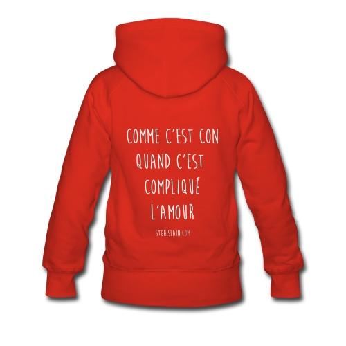 sweat femme rouge rubis stg - Sweat-shirt à capuche Premium pour femmes
