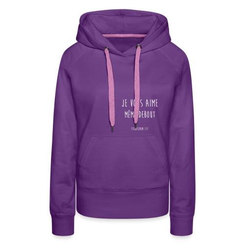 sweat femme violet stg - Sweat-shirt à capuche Premium pour femmes