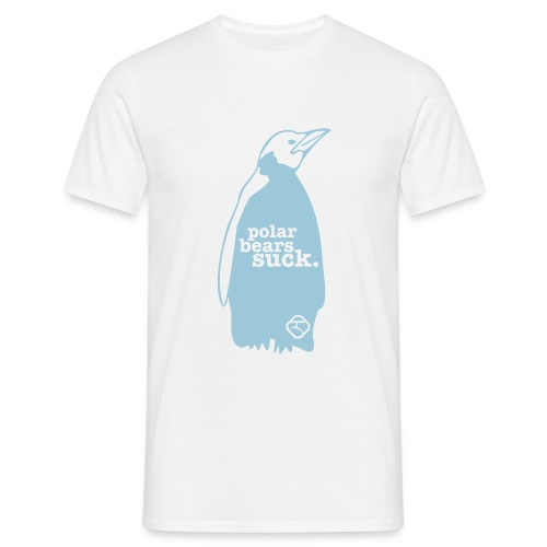 Polar Bears Suck - Penguin Rules! - T-shirt herr