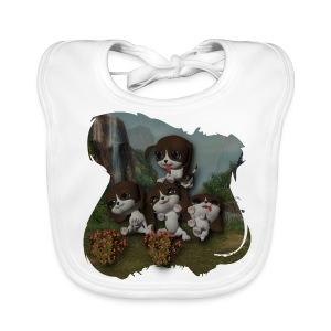 Vier spelende puppies - Baby Organic Bib