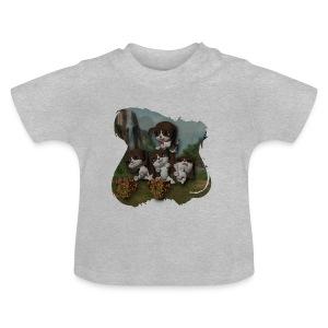 Vier spelende puppies - Baby T-Shirt