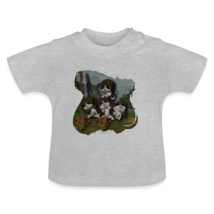 Vier spelende puppies - Baby T-shirt
