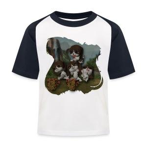Vier spelende puppies - Kids' Baseball T-Shirt
