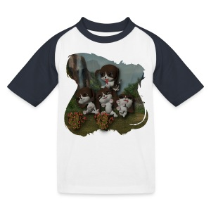 Vier spelende puppies - Kids' Baseball T-Shirt