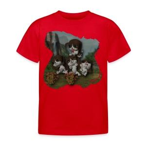 Vier spelende puppies - Kids' T-Shirt