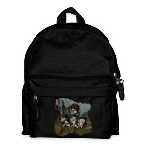Vier spelende puppies - Kids' Backpack